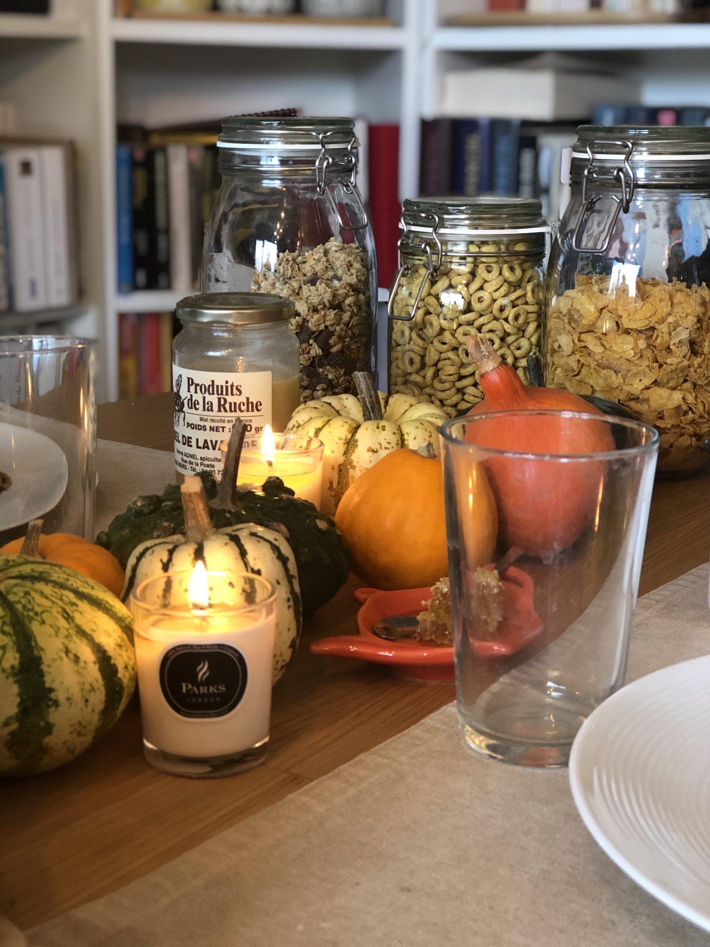organiser un brunch d'automne