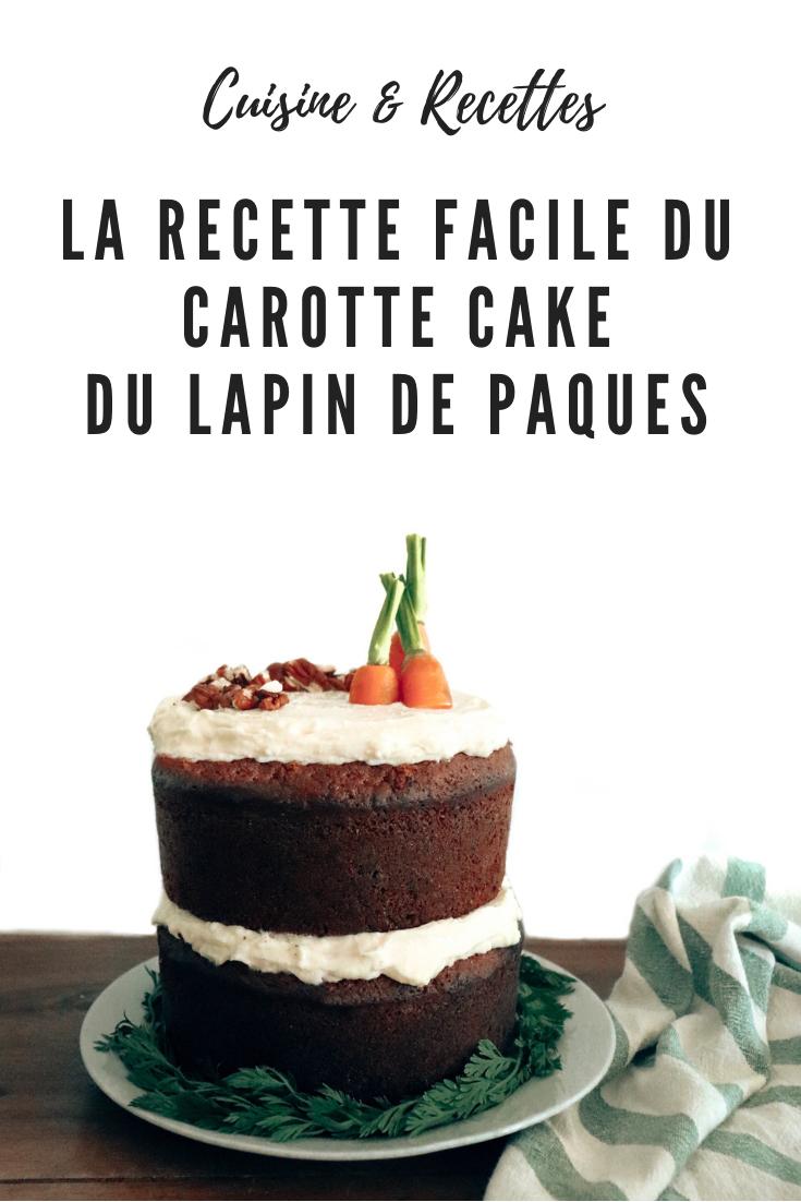 carotte cake du lapin de Paques